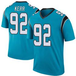 Zach Kerr Carolina Panthers Legend Men's Color Rush Jersey (Blue)