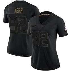 Zach Kerr Carolina Panthers Limited Women's 2020 Salute To Service Jersey (Black)